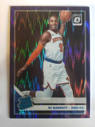 2019-20 Donruss Optic Rated Rookie Purple Shock Prizm 178 RJ Barrett Rookie RC - $22.50