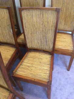 Dining chairs x 6 timber