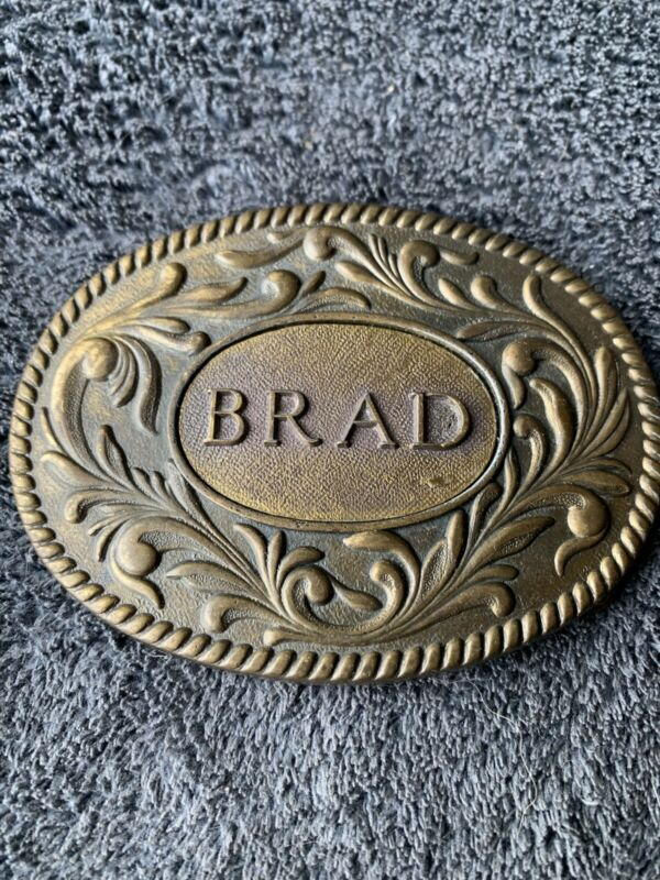 "Vintage ""Brad"" Belt Buckle - 1977 - The Kinney Company....................CPA009"