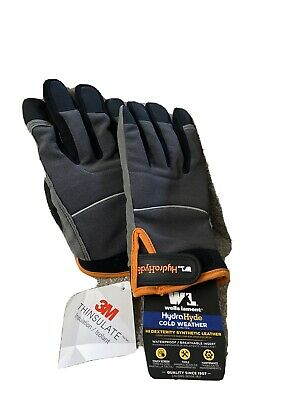 Wells Lamont Hydra Hyde Thermal Work Gloves Waterproof Xl Thinsulate New