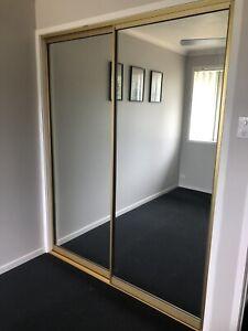 FREE Double Mirrored Sliding Wardrobe Doors