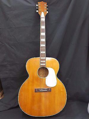 Vintage 1950's K-27 Jumbo Flat Top Acoustic Kay Guitar With Original Case