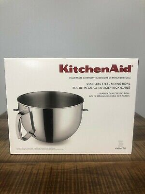KitchenAid 6 Quart Stainless Steel Mixing Bowl with Ergonomic Handle Brand New