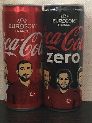 Euro 2016 Coca Cola And Coca Cola Zero Turkey Aluminium Coke Cans NEW UNOPENED
