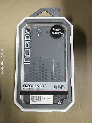 INCIPIO Frequency SONY XPERIA Z CASE GREY - Textured Impact Resistant Case NEW