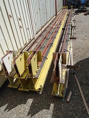 Two 43 Overhead Crane Beams With Rails - 8 X 12