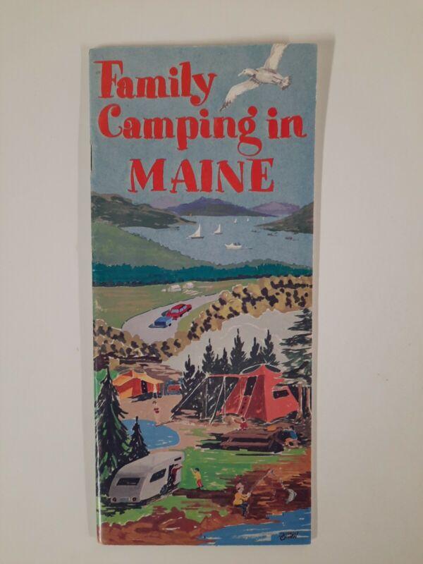 MAINE 1971 vintage CAMPING brochure NATURE travel TOURISM
