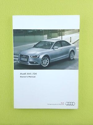 AUDI A4 & S4 Facelift (2012 - 2015) Owners Manual / Handbook