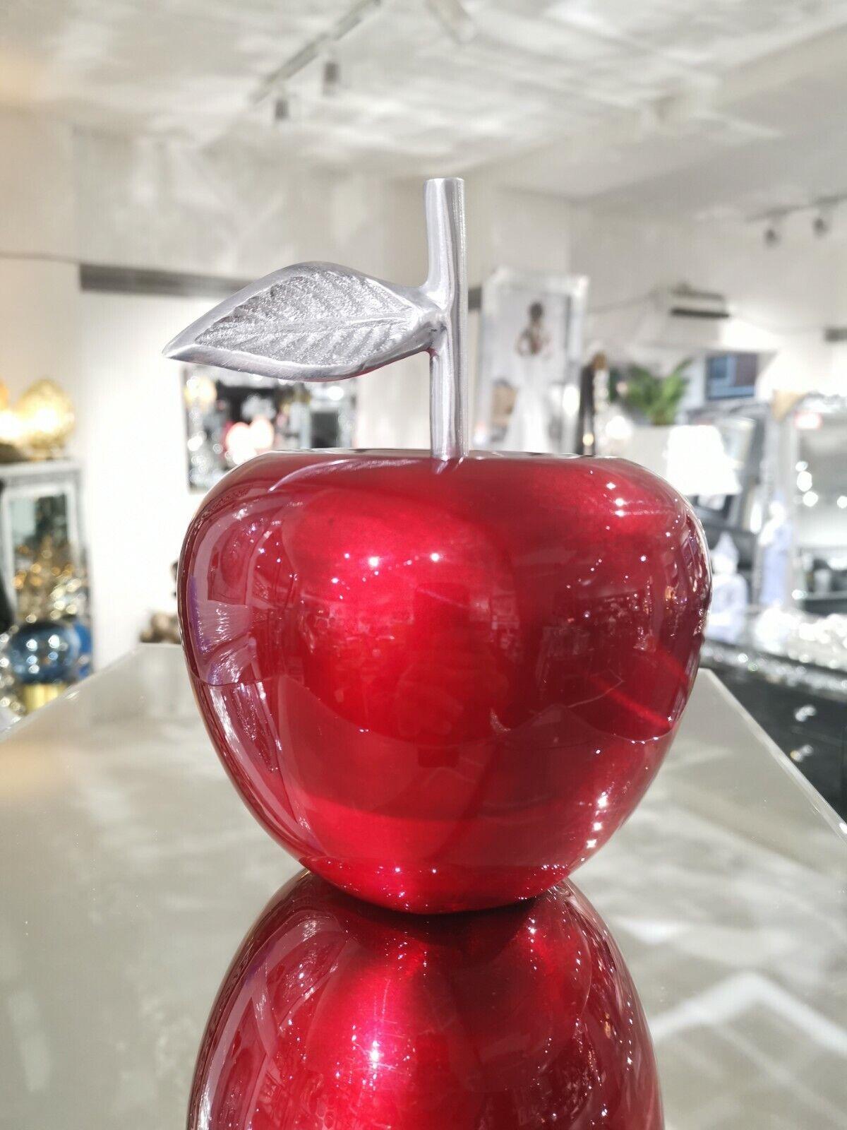 Large Aluminium Red Whole Apple Table Decor, Ornament, Statement Piece