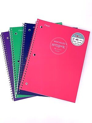 Mead Spiral College Wide Rule Notebooks 70 Pages Each Lot Of 14 Notebooks