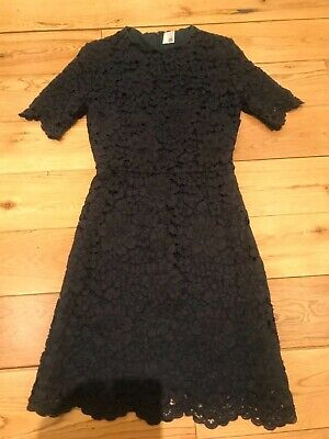 Ladies Iris & Ink dark grey purple lace dress, size 6