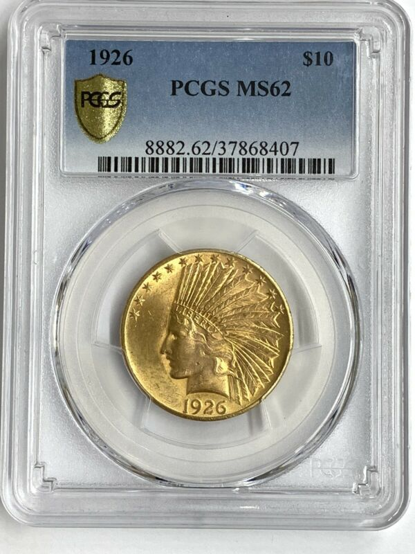 1926 $10 US Gold Eagle Indian PCGS MS62