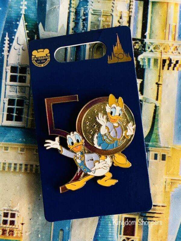 2021 Disney World 50th Anniversary Donald & Daisy Duck Pin New In Hand
