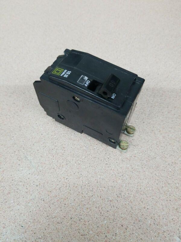 Square D QOB260 Circuit Breaker 60 Amp 2 Pole 120/240 VAC Type QOB Bolt On Used