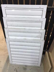 Aluminium shutters x 4