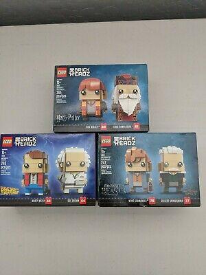 New LEGO Brickheadz Lot of 3! 41611 41621 41631 NEW!! SEALED!!