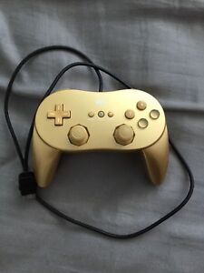 Wii controller pro gold limited edition