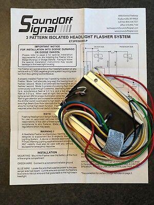 Soundoff Signal Et3pfiso00-p - 3 Pattern Isolated Headlight Flasher System