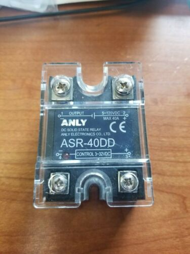 Anly ASR-40DD DC Solid State Relay 3-32VDC control -  40a 5-120VDC output
