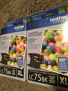 Brother black and coloured ink cartridges