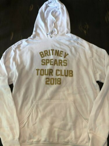 BRITNEY SPEARS TOUR CLUB 2018 HOODED SWEATSHIRT MEDIUM: CROSSROADS