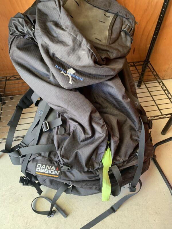 Dana Design Vintage Hiking Backpack Mens Large Black Grey