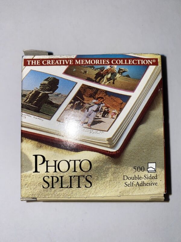 NEW 500 Photo Splits by Creative Memories for Scrapbook Album Adhesive Tape