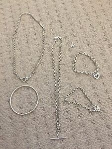 Sterling silver necklaces and bracelet Soldiers Point Port Stephens Area Preview