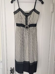 BCBG silk dress with lace detailing
