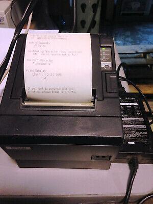 Epson Micros Black Receipt Printer Tm-t88iii M129c Ac