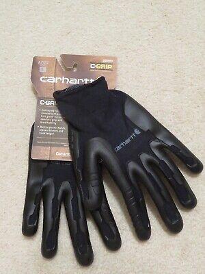 Carhartt C-grip Lg Gloves Thermoplastic Rubber Palm Black Nylon Cotton Knit