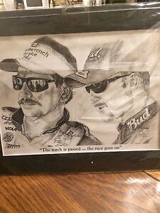 Print Dale Earnhardt and jr London Ontario image 1
