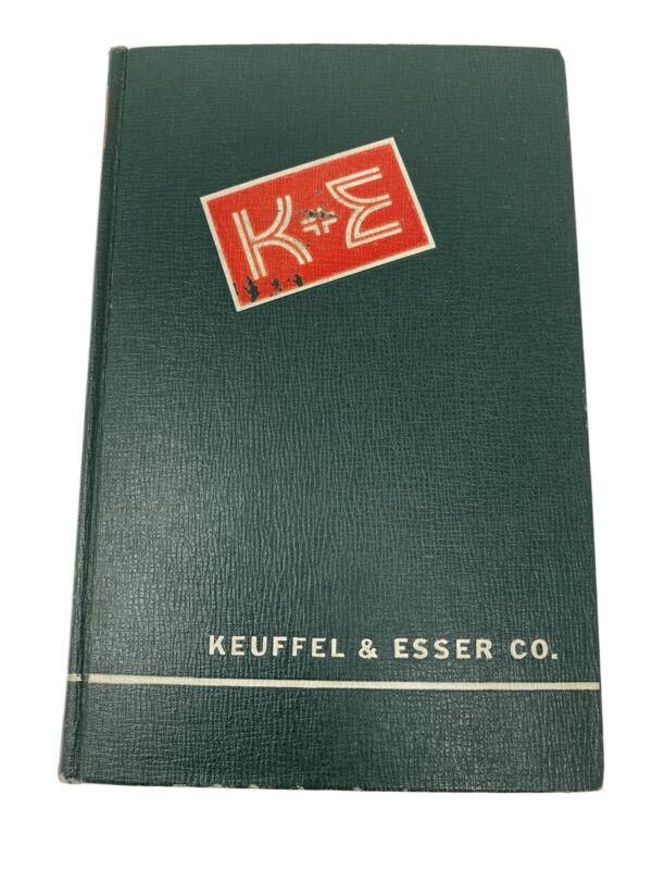 1954 Keuffel & Esser Co. Catalog 42nd Edition Hardcover Drafting Tools See BONUS