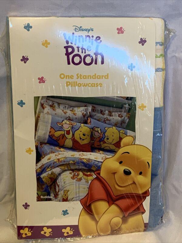 Vintage Disney Winnie The Pooh & Tigger Pillowcase 26x20 New Sealed Package