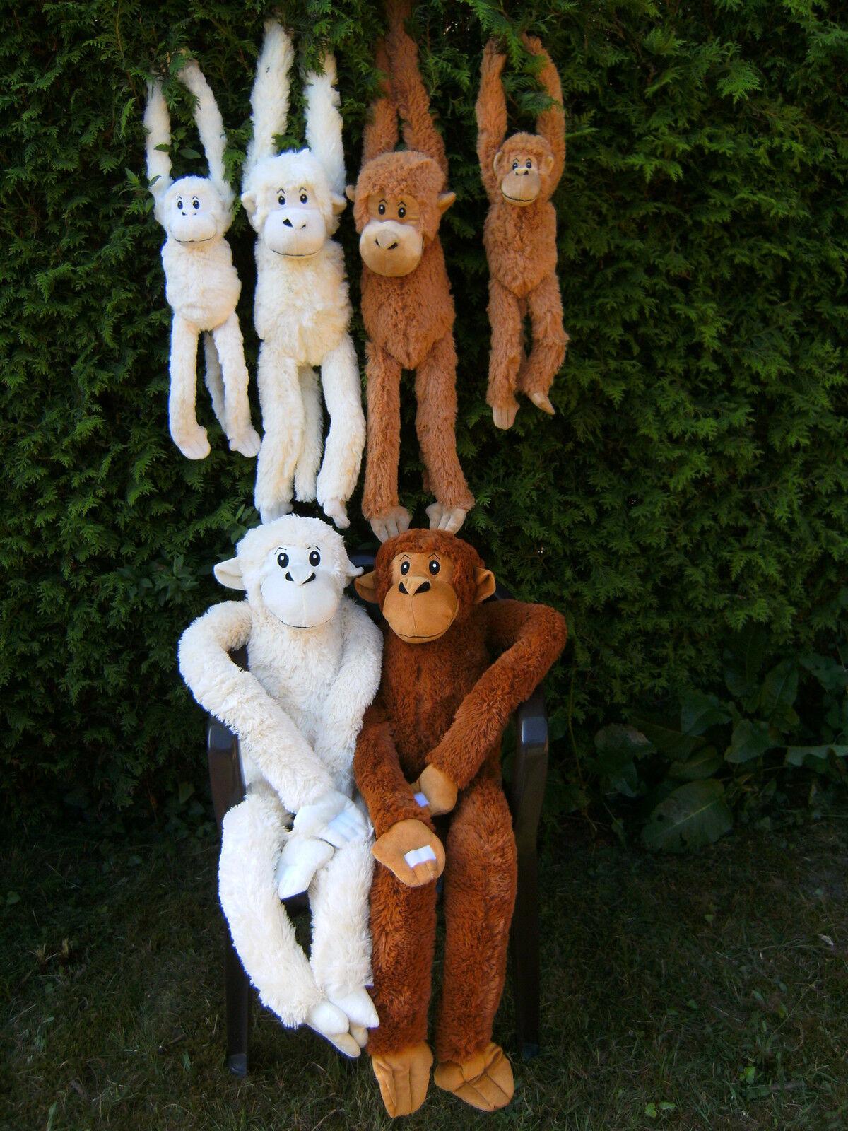 1 Plüschtier Affe 70-145 cm Affen Hängeaffen Stofftier Kuscheltiere Hängeaffe NW