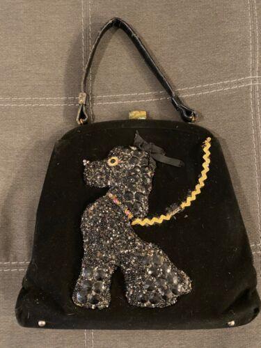 Vintage Poodle Soure Bag In Black