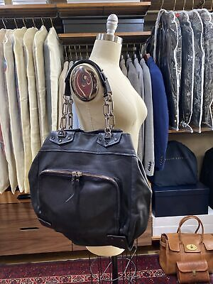 Authentic Lanvin Soft Leather Black Tote With Chain. Made In France!!!