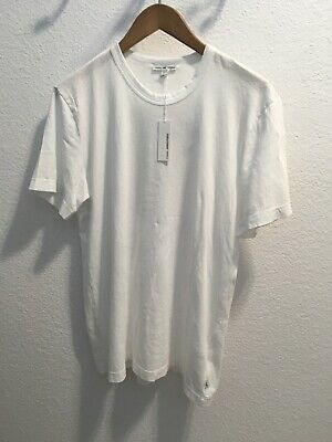 James Perse Mens Graphic T Shirt Mlj3311 White Sz 2 (new Other)