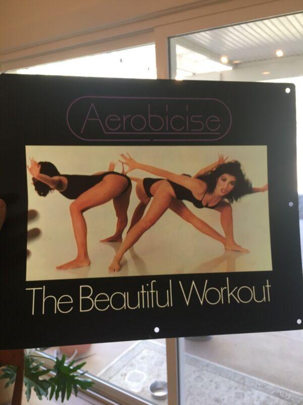 Vtg Plastic Insert Advertisement Promo Poster Aerobicise The Beautiful Workout