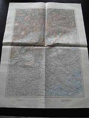 alte Karte Landkarte 30`46` Belluno Italien von 1907 Motta Treviso Vittorio