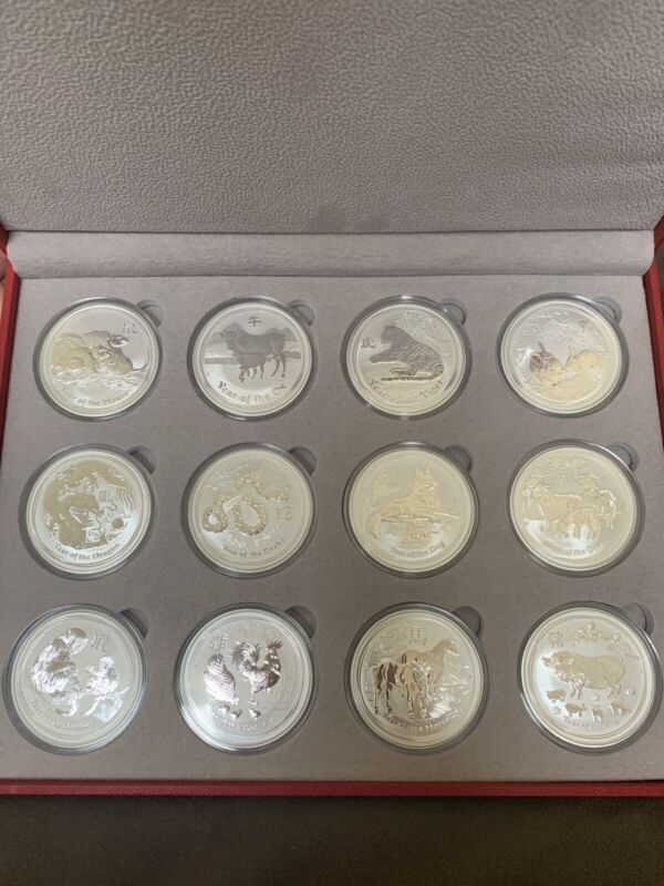 Lunar Series II Silver Coins - Complete Set One Ounce Coins