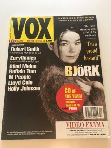 VOX Magazine #39 Dec 1993 BJORK Eurythmics Lloyd Cole Robert Smith M People OOP