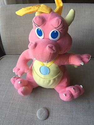 Dragon Tales Cassie Plush Dinosaur Stuffed Pink Wings 1999