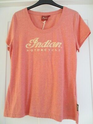 LADIES SIZE SMALL INDIAN MOTORCYCLE PINK T SHIRT BNWT !