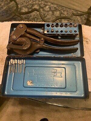 Vintage Whitney Jensen Metal Working Tools Punch No. 5 Jr.