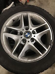BMW RIMS AND TIRES IN PERFECT CONDITION