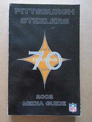 2002 Pittsburgh Steelers 70th Season Media Guide