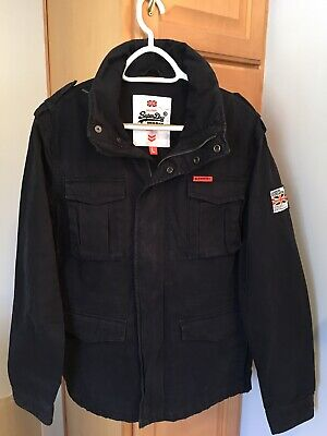 "Super Dry Mens "" The Rookie "" CLASSIC ROOKIE MILITARY Navy Blue Jacket  Size L"