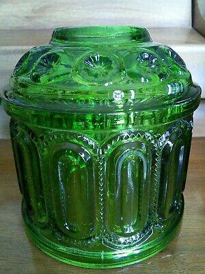 VTG L.E. SMITH MOON & STARS GREEN GLASS FAIRY LIGHT TOP ONLY
