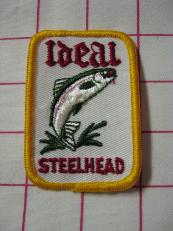 "Vintage Ideal Outdoors SteelHead Trout Fish Fishing Patch Emblem 3"" x 2"" NEW"